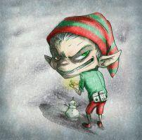 Evil Christmas Characters.Evil Christmas Elf Skull Girl 73 By Mrrevenge On