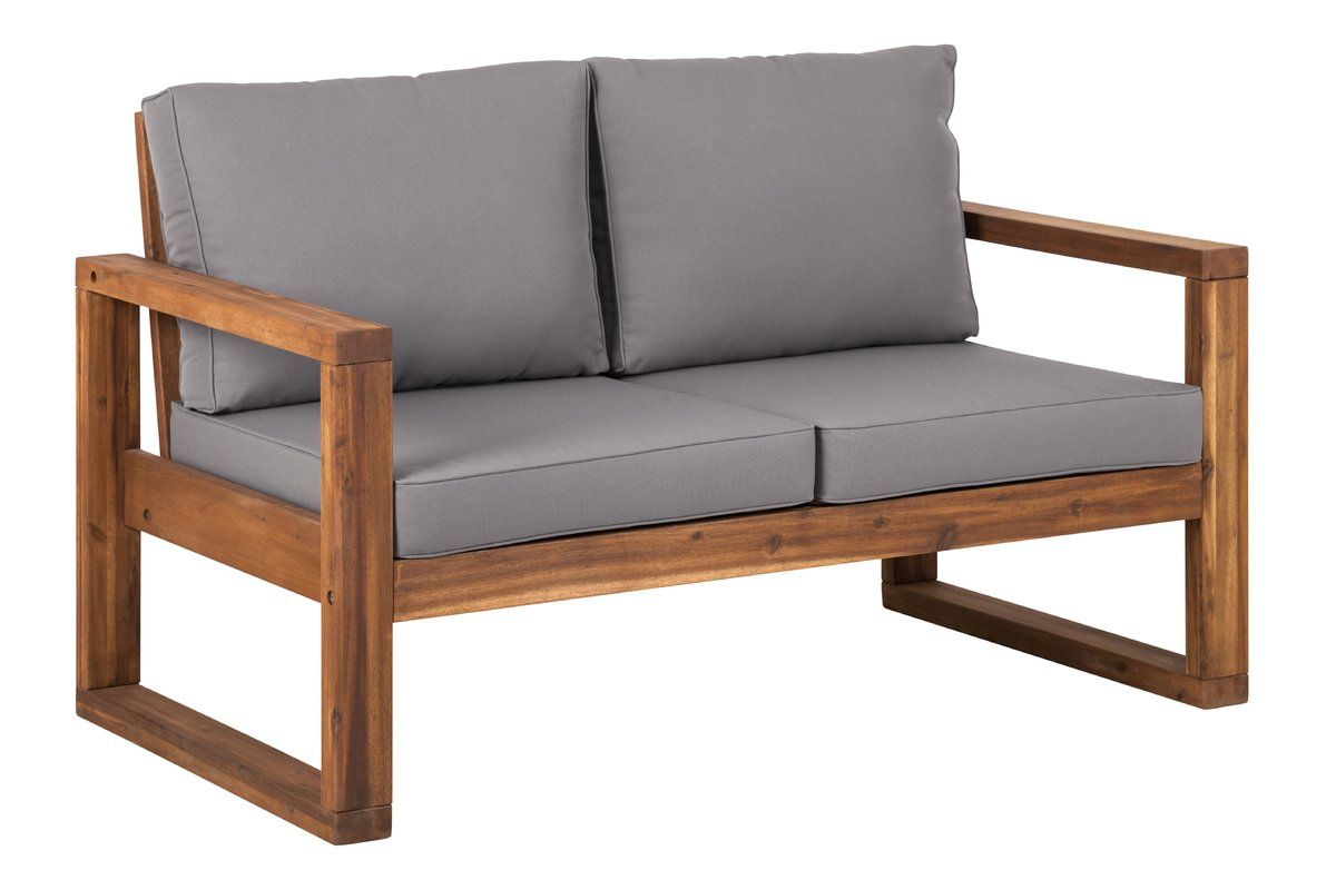 Lyall Loveseat With Cushion Outdoors Outdoor Loveseat