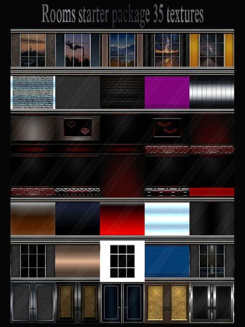 TEXTURES IMVU FOR SALE: Rooms starter package 35 textures rooms imvu