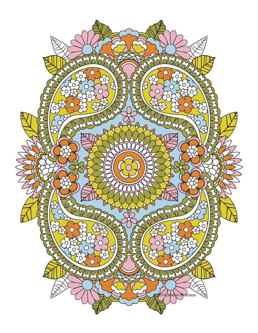 Coloring book color of art - Flower Designs Coloring Book