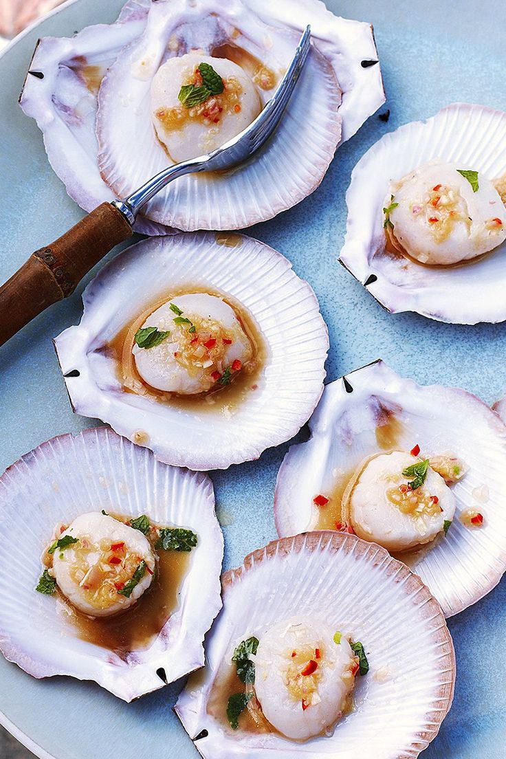 Scallops With Ginger And Lemongrass Recipe Scallop Recipes Fish Food Photography Ginger Recipes