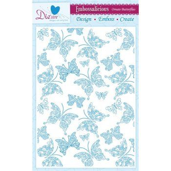 Crafters Companion 3 for 2 Embossalicious Embossing Folders A4 - Ornate Butterflies