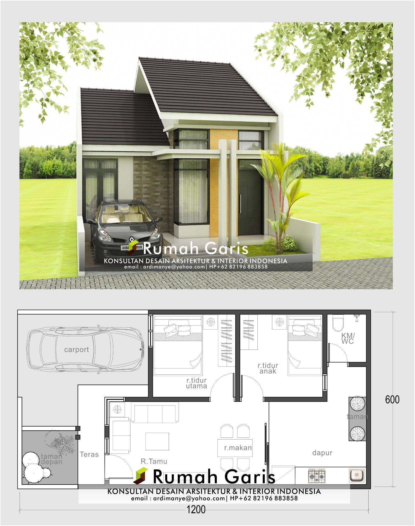 Rumah Minimalis 6x12 Tampak Depan : rumah, minimalis, tampak, depan, Lantai, Ukuran, Tampak, Depan, Rumah, Minimalis, Lebar, Meter, Content