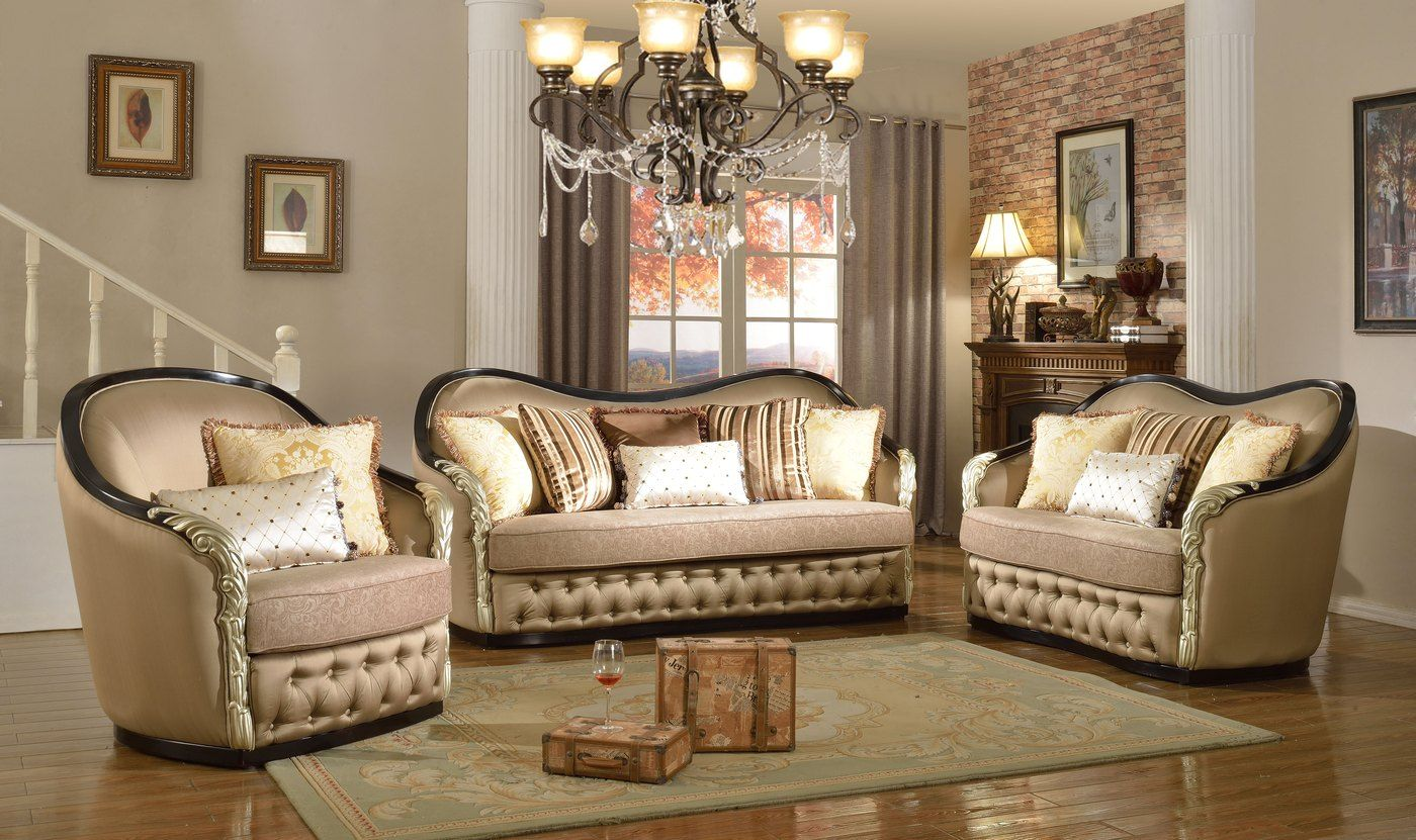 Lafayette Traditional Antique Style Formal Sofa Set French Style Sofa,  Loveseat Sofa, Sofa Set