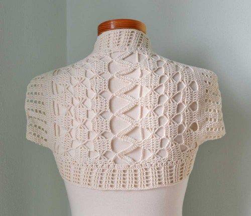 Ivory Lace Crochet Shrug Bolero H770 Boleros Crochet And Yarns