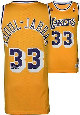 Kareem Abdul-Jabbar Lakers Autographed Gold Adidas Swingman Jersey -  Fanatics  Basketball 6352e9cc6