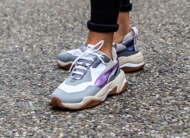 Puma-Womens-Thunder-Electric-White-Pink-Lavender-Cement-on-feet ...