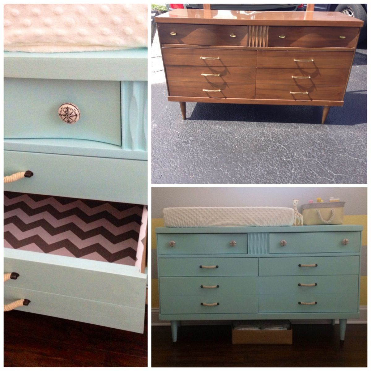 Dresser/changing table transformation #thrift #diy | Little Ones ...