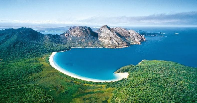 Located on Tasmania's Freycinet Peninsula, Wineglass Bay is one of the most photogenic beaches in Australia. This crescent-shaped beach of d...