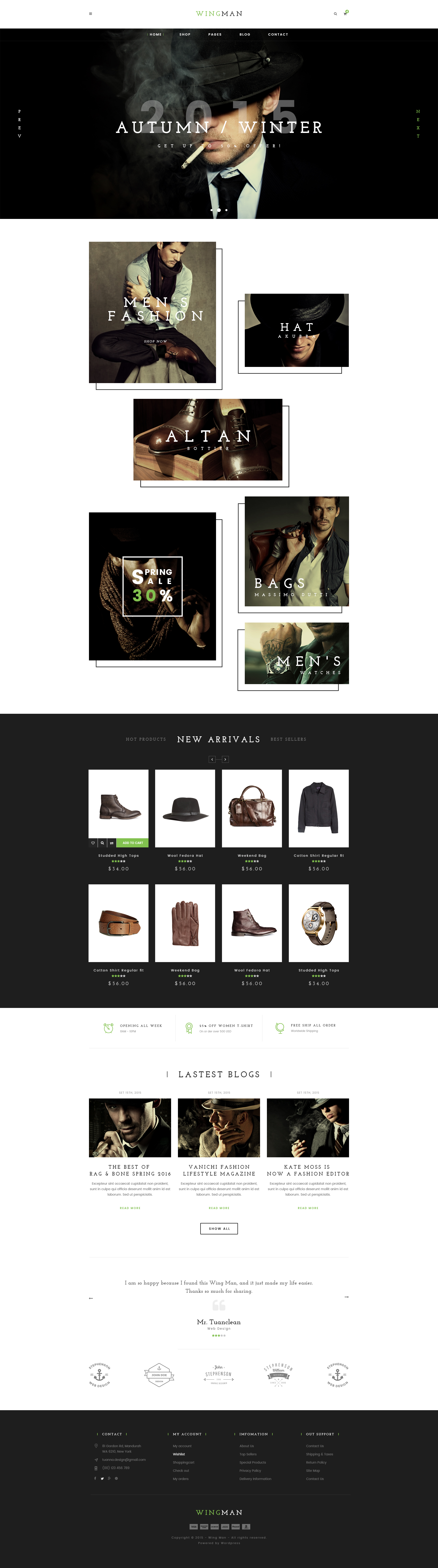 WINGMAN - eCommerce and Blog HTML Template (Retail) Nulled - http ...