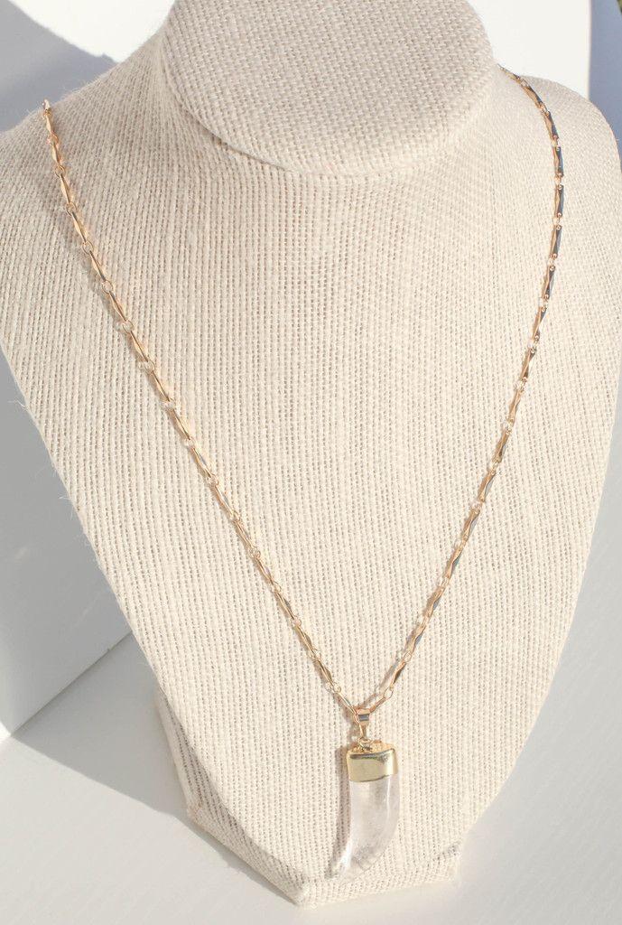 Quartz Horn Necklace