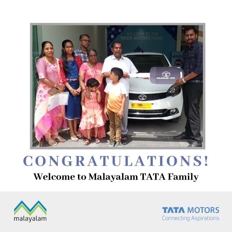 Mr Renji V Raju Taking Delivery Of Brand New Tata Tiago