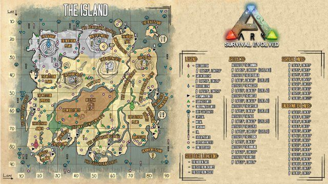 Ark Survival Evolved Guide For Beginners Maps Dinos