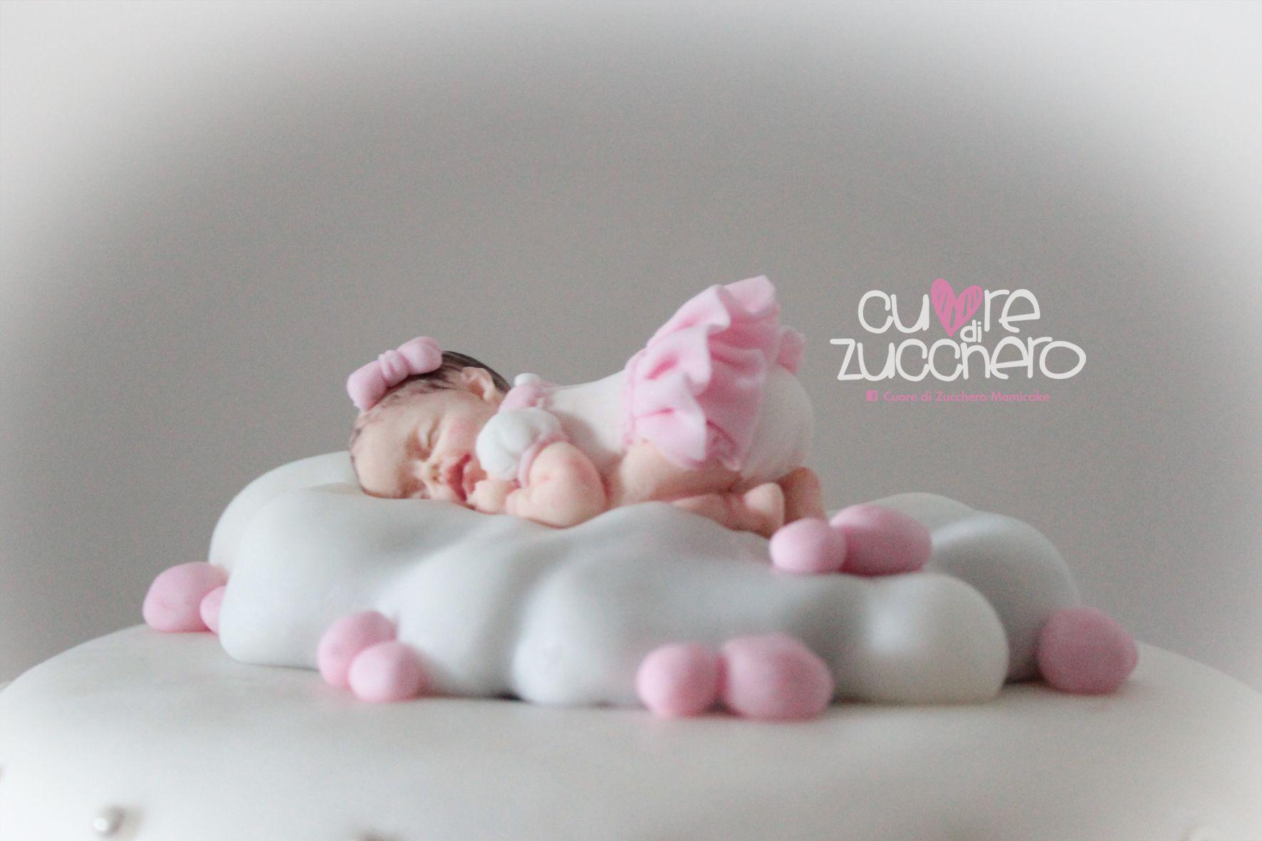 Neonato pasta di zucchero - topper baby