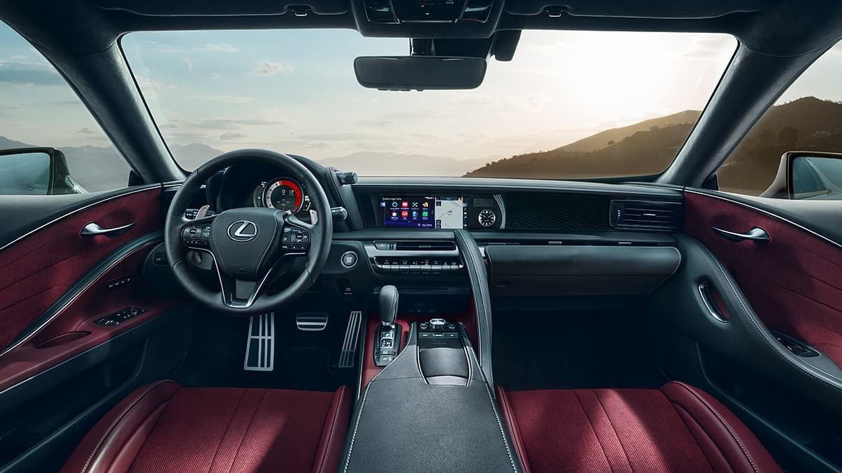 Interior Shot Of The Lc 500 Showing The Driver Inspired Cockpit In 2020 Lexus Lc Luxury Hybrid Cars Lexus