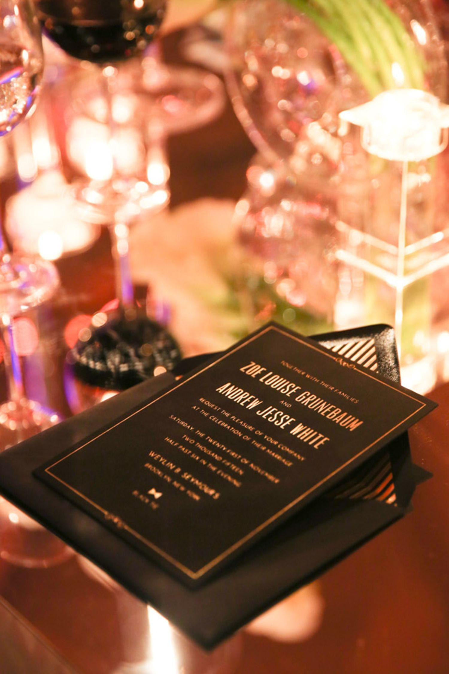 Glamorous Weylin B Seymourus Wedding  Event design Letterpress