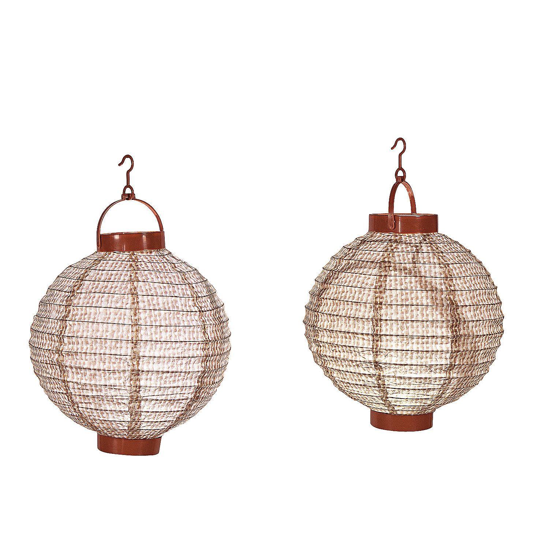 Burlap Print Light-Up Lanterns - OrientalTrading.com 3 for $12 ...