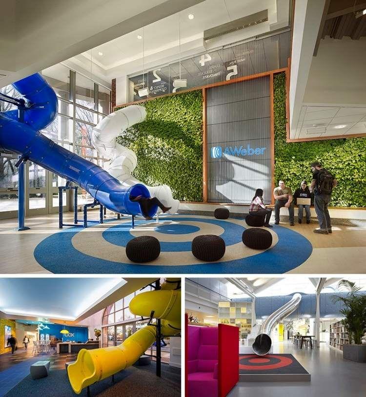 Espace de travail collaboratif et salle de jeux avec for Mobilier salle de repos