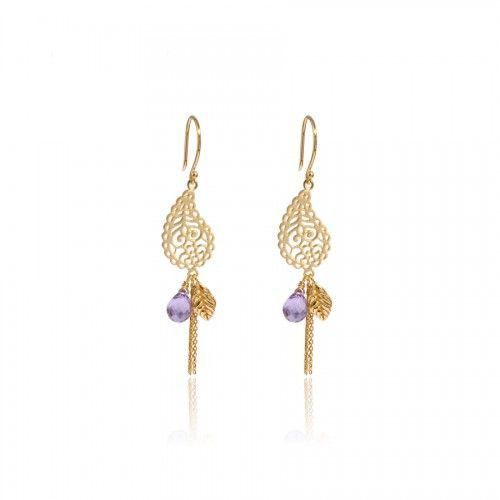 dbd0fa7d9d710 In Love with Life Earrings • Amethyst • Gold Vermeil in 2019   home ...