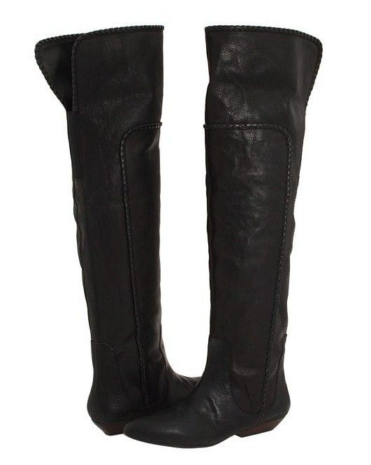 d51e4353b88 Details about Womens LUCKY BRAND brown leather suede knee high boots ...