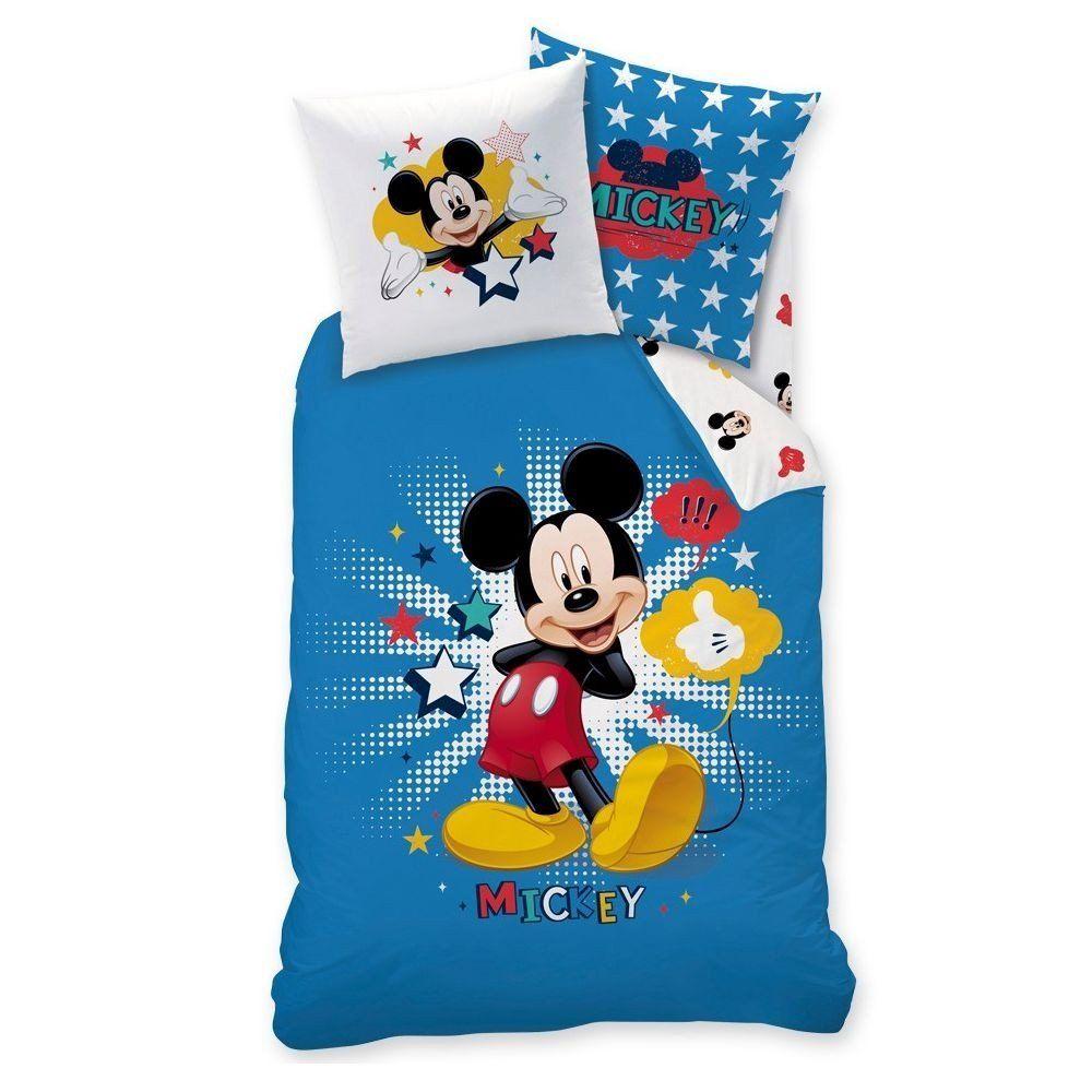 Micky Maus Kinder Bettwäsche Mickey Mouse Star Wende Motiv Mit