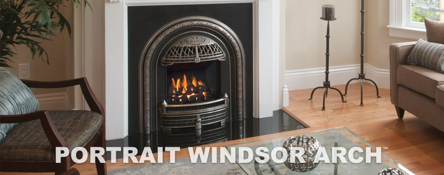 Valor portrait series windsor arch gas fireplace