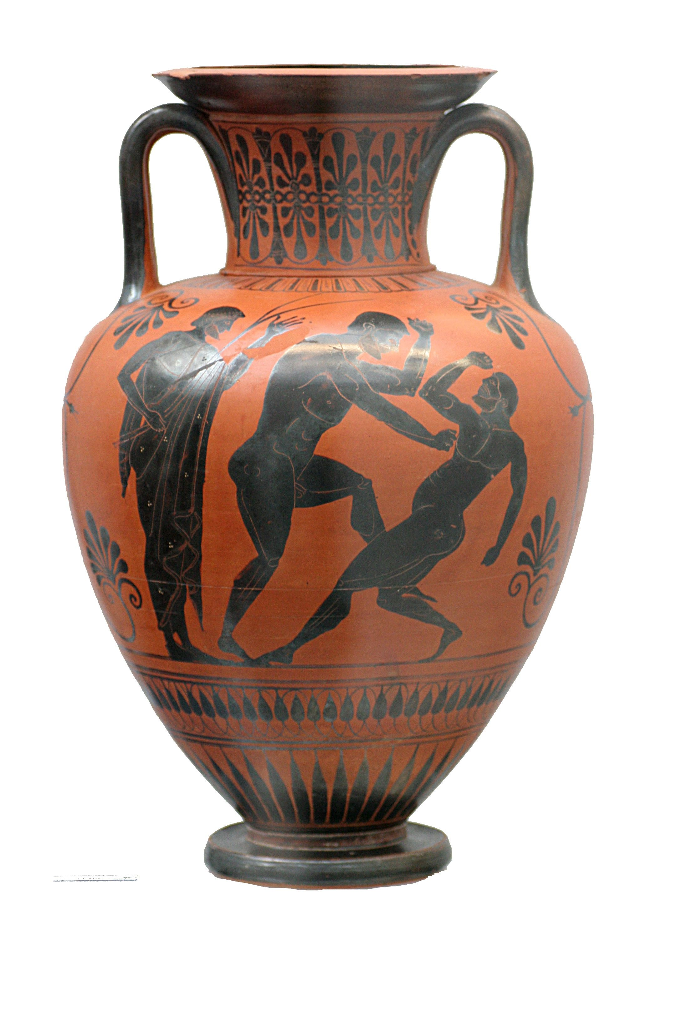 Black Figure Greek Pottery Black figure amphora atalante | Art ...