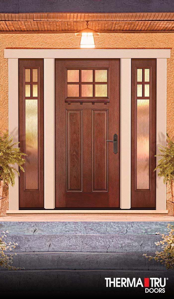 Therma-Tru Fiber-Classic Mahogany Collection fiberglass door with ...