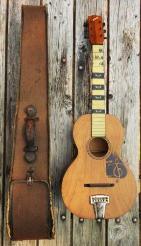 Vintage 1920s 30s Acoustic Guitar Case Supertone The Prep Blues Western 439 Nr Guitar Acoustic Guitar Case Guitar Case