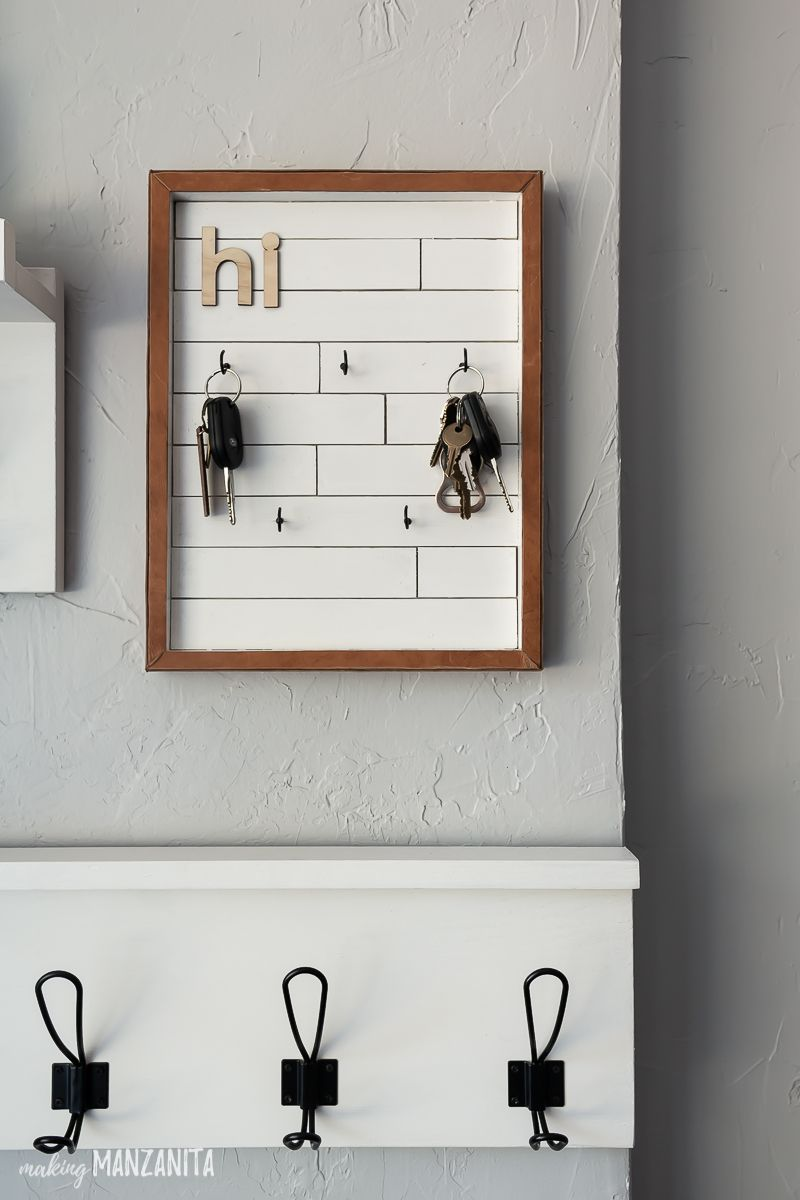 Diy Key Holder With Modern Farmhouse Style Key Holder Diy Entryway Wall Decor Entryway Decor