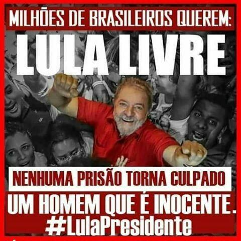 Resultado de imagem para Lula inocente lula presidente