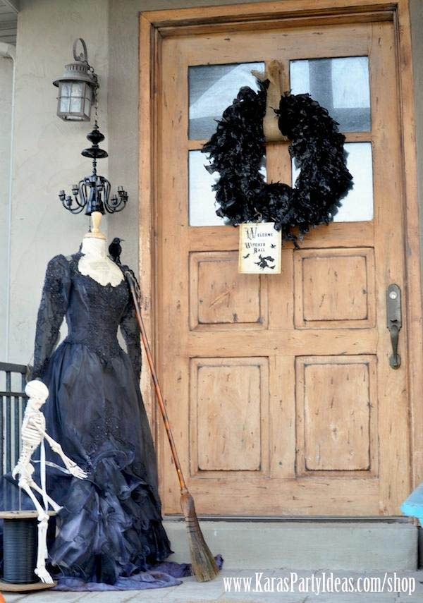 Black Garbage Bag Halloween Decorations.Witches Ball Halloween Party Supplies Kara S Party Ideas Shop Planning Halloween Inspiration Halloween Party Supplies Halloween Outdoor Decorations
