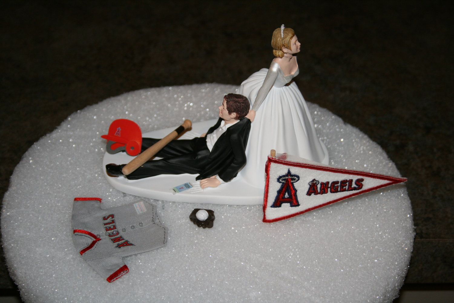 Los Angeles Angels Anaheim BASEBALL Wedding Cake By