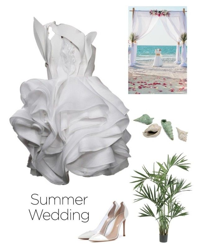 """BEACH WEDDING"" by kotnourka ❤ liked on Polyvore featuring Givenchy, Gianvito Rossi, Nearly Natural and IMAX Corporation"