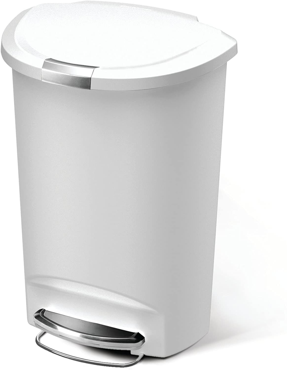 Amazon Com Simplehuman 50 Liter 13 Gallon Semi Round Kitchen Step Trash Can Grey Plastic With Secure Slide Lock Home Simplehuman Trash Can Round Kitchen Simple human trash can 13 gallon