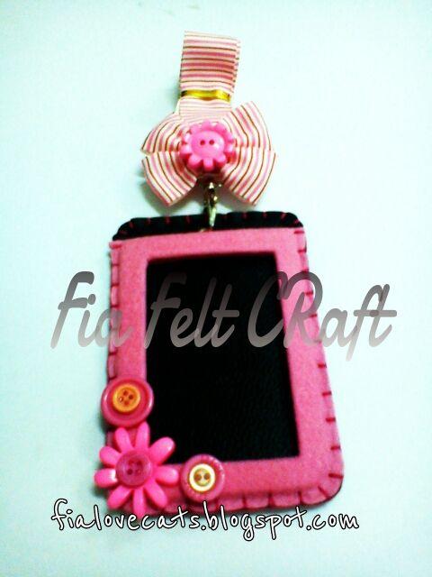 Id Card Holder By Fia Felt Craft Felt Crafts Felting Projects Handmade Crafts