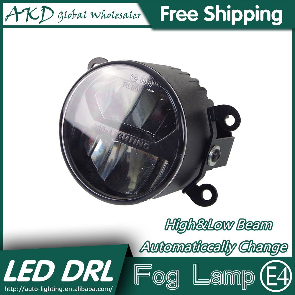 Akd Car Styling Led Fog Lamp For Nissan Marchi Drl Emark Certificate Fog Light High Low Beam Automatic Switching Fast Shipping Mini Van Fog Lamps Car Lights