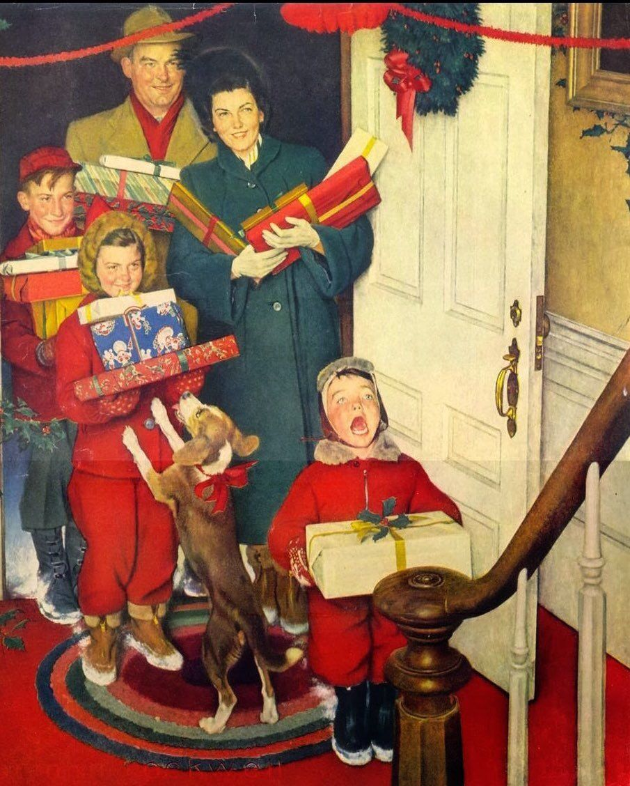 'Merry Christmas Grandma…We Came in Our New Plymouth!' by