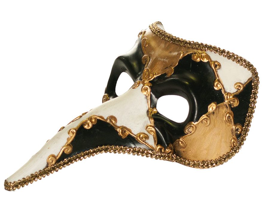 Exotic Venetian Costume Masquerade Mask Checkered Design Prom Halloween Unisex