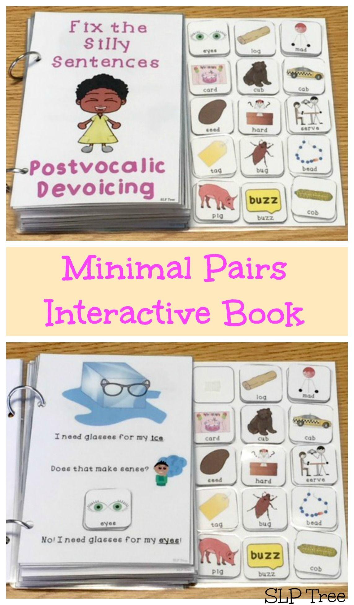 Minimal Pairs Interactive Book Postvocalic Devoicing