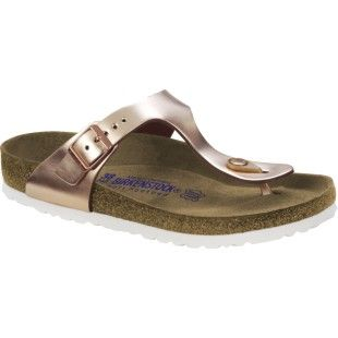 32e9ecc29 Birkenstock Gizeh Natural Leather Soft Footbed Ladies Sandals - Metallic  Copper