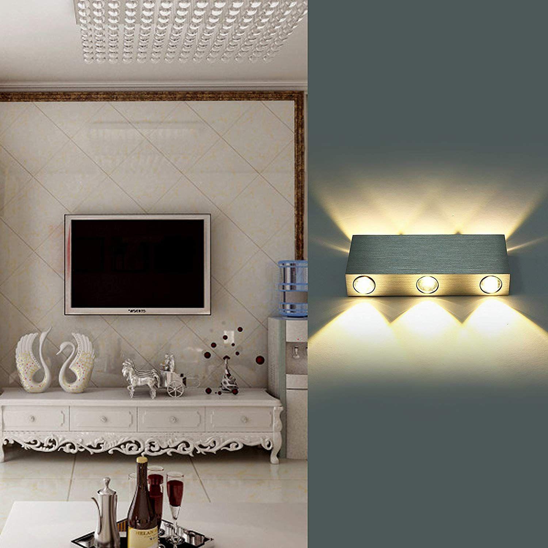 Lightess Applique Murale Led 6w Moderne Intérieur Lampe Murale En