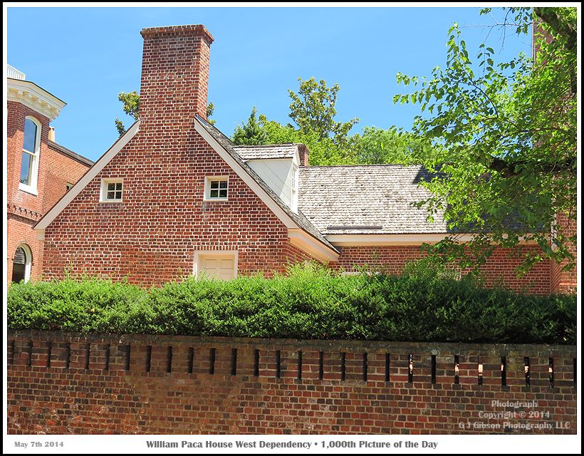 The West Dependency Of The William Paca House In Annapolis Maryland.  Photograph Published On May