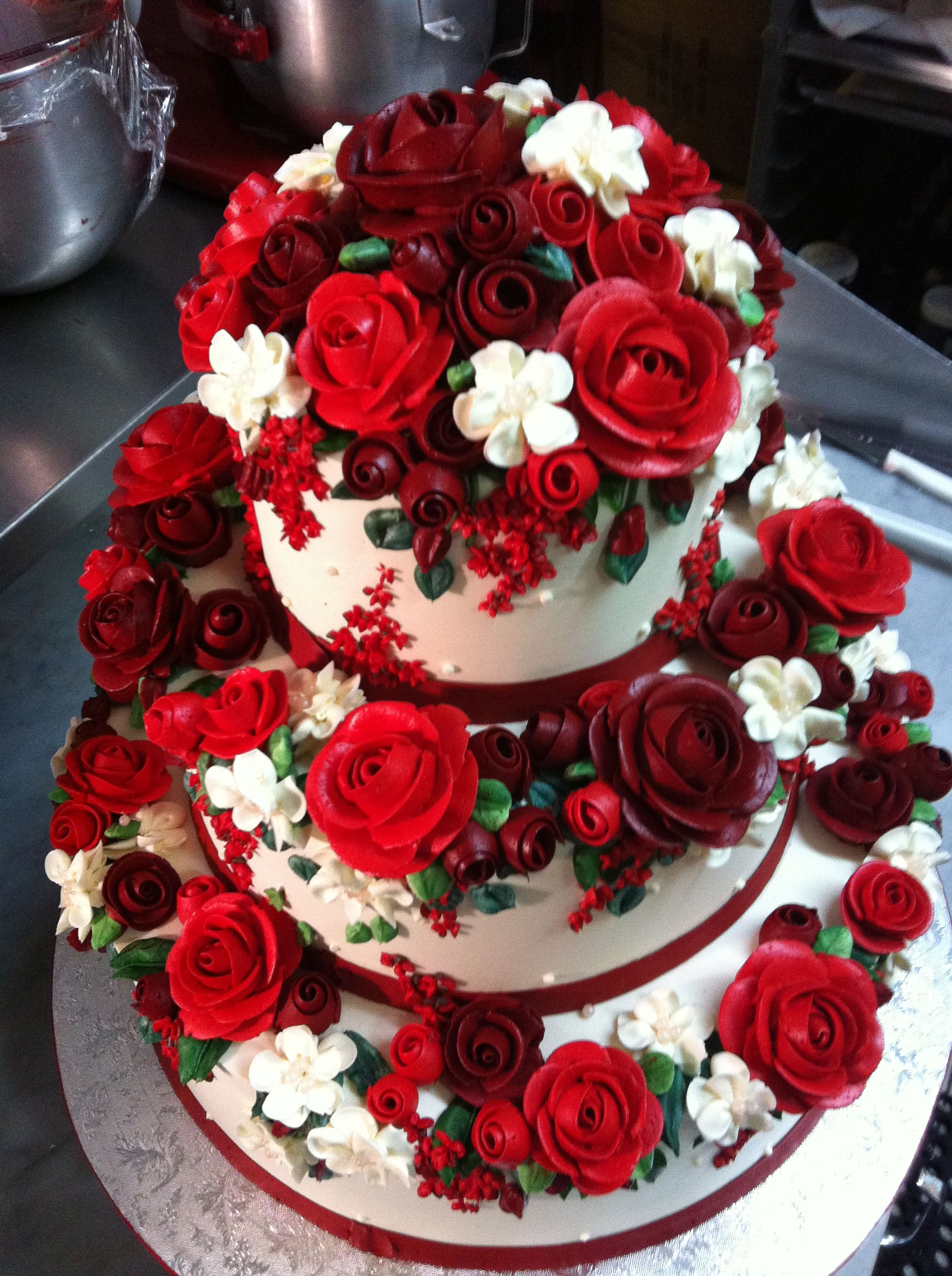Two Little Red Hens Wedding Cake