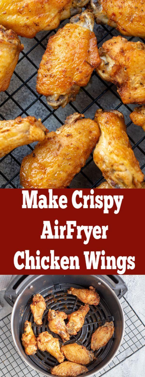 Easy Air Fryer Chicken Wings - Momsdish