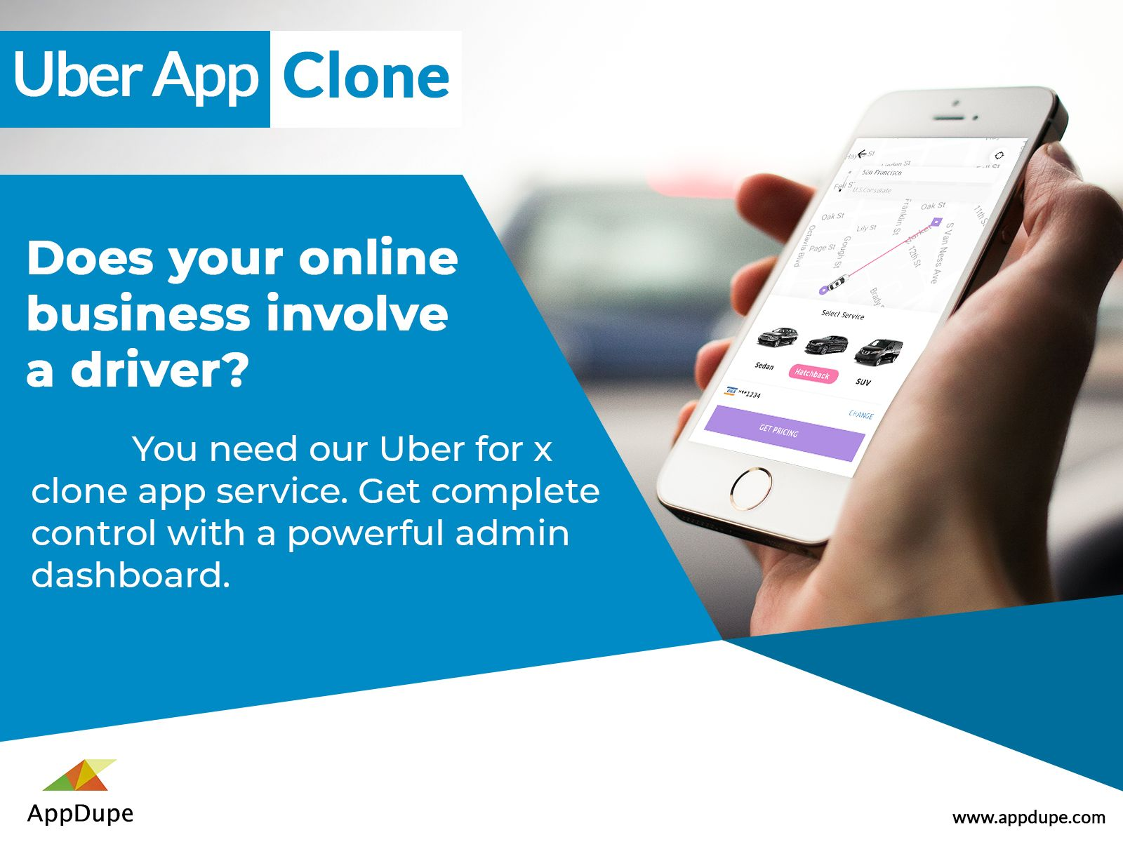 Appdupe's Uber clone is now available at an affordable price within