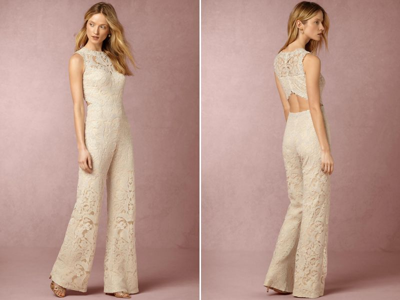 Say No To The Dress 16 Stylish Modern Bridal Jumpsuits