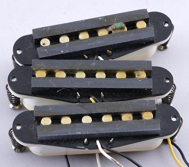 1993 fender squier korea stratocaster sss guitar pickup set pu 8331 rh pinterest com Standard Strat Wiring Standard Strat Wiring