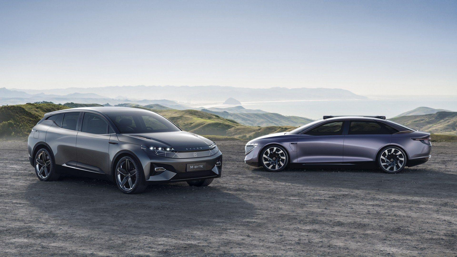 Byton K Byte Concept Previews A Production Ev For 2021 Electric Cars Car Sedan