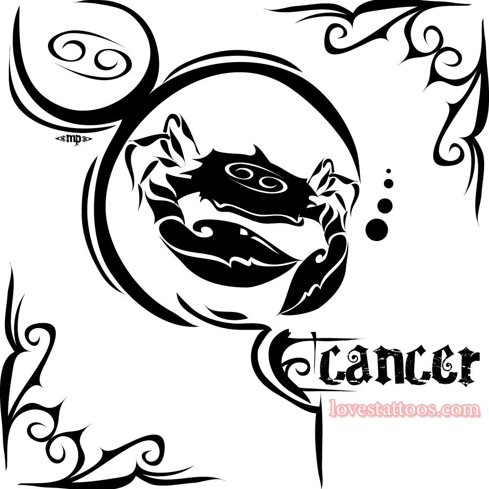 Sign tattoo designs - Zodiac Free Download Cancer Tattoos Pictures Zodiac Sign Tattoo Designs Loves